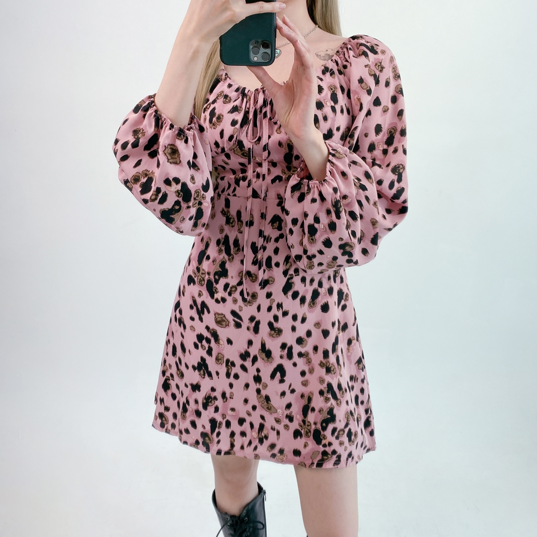 Pink Spotted Pattern Dress