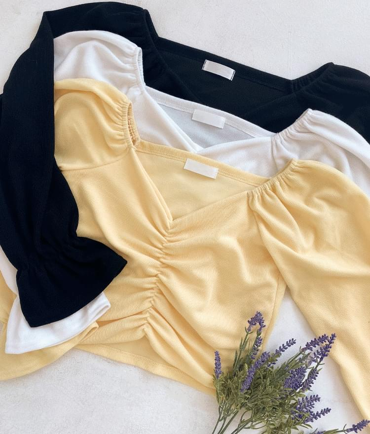 Ruched Front Crop Top