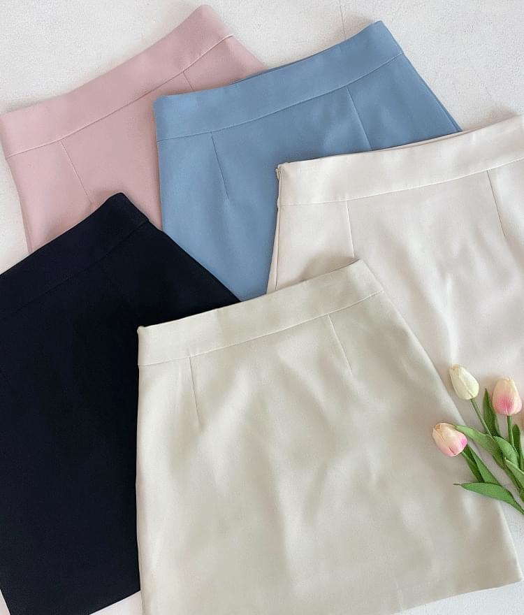 High-Rise A-Line Mini Skirt