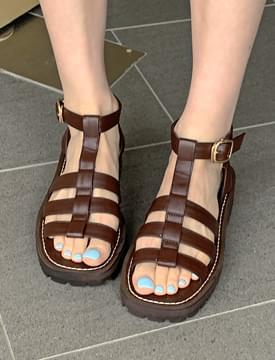 Buckled gladiator sandals