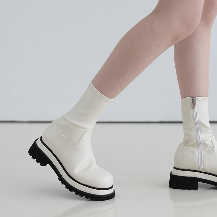 Noah Spandex Middle Boots 靴子