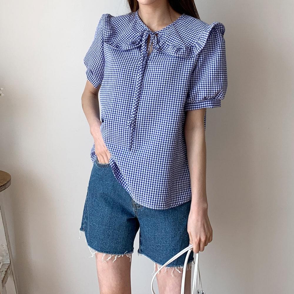 Mau frill collar blouse