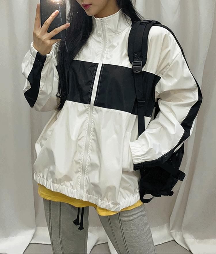 Two-Tone Zip-Up Jacket