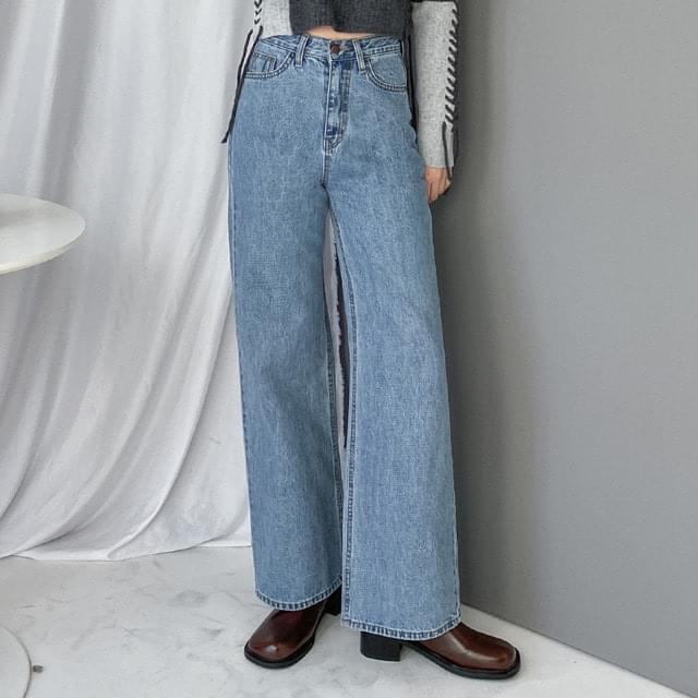 Baku straight wide-fit denim trousers デニムパンツ