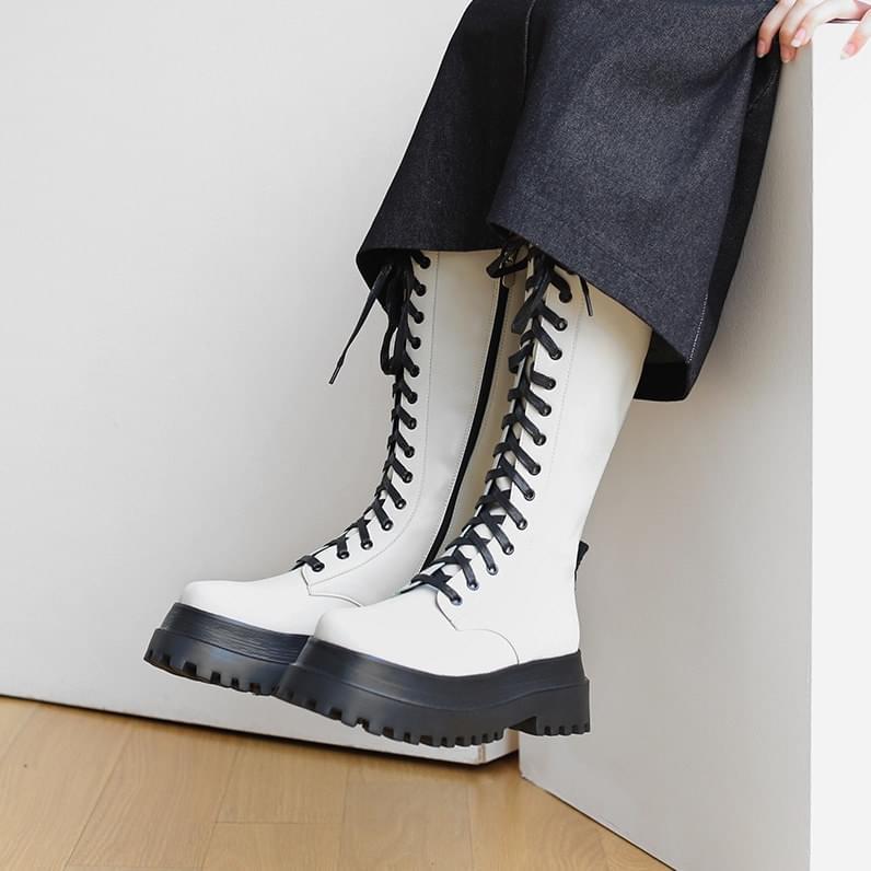 Ken lace-up walker boots