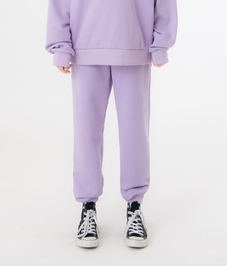 UNTITLE8Light Purple Drawstring Waist Jogger Pants
