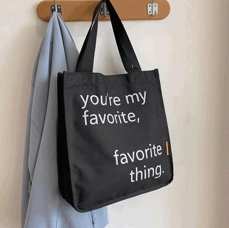 Favorite Lettering Eco Bag