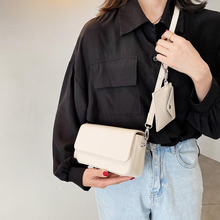 Letter mini wallet SET shoulder bag