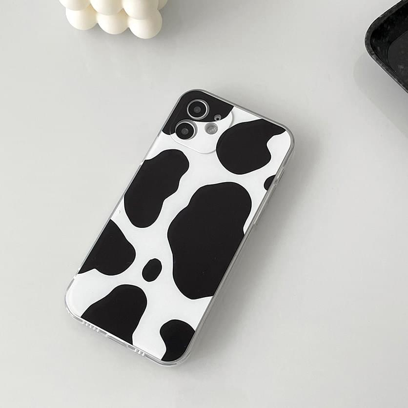 Basic Cow Pattern Full Cover iPhone Case