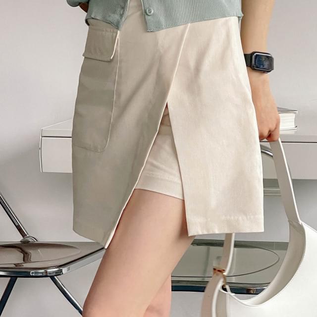 Charming pocket culotte pants