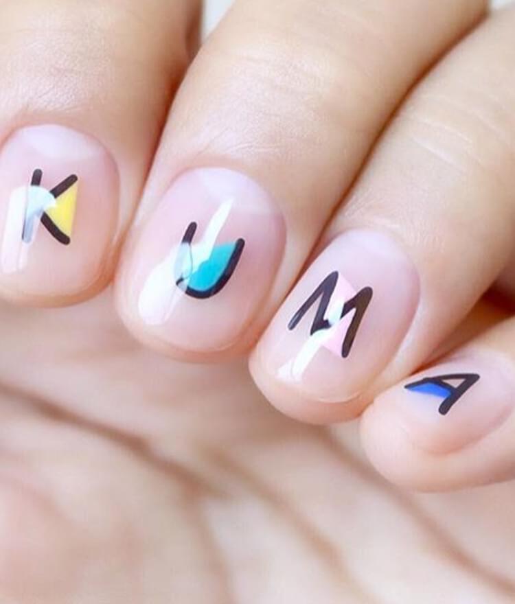 Alphabet Themed Nail Art Water Decal