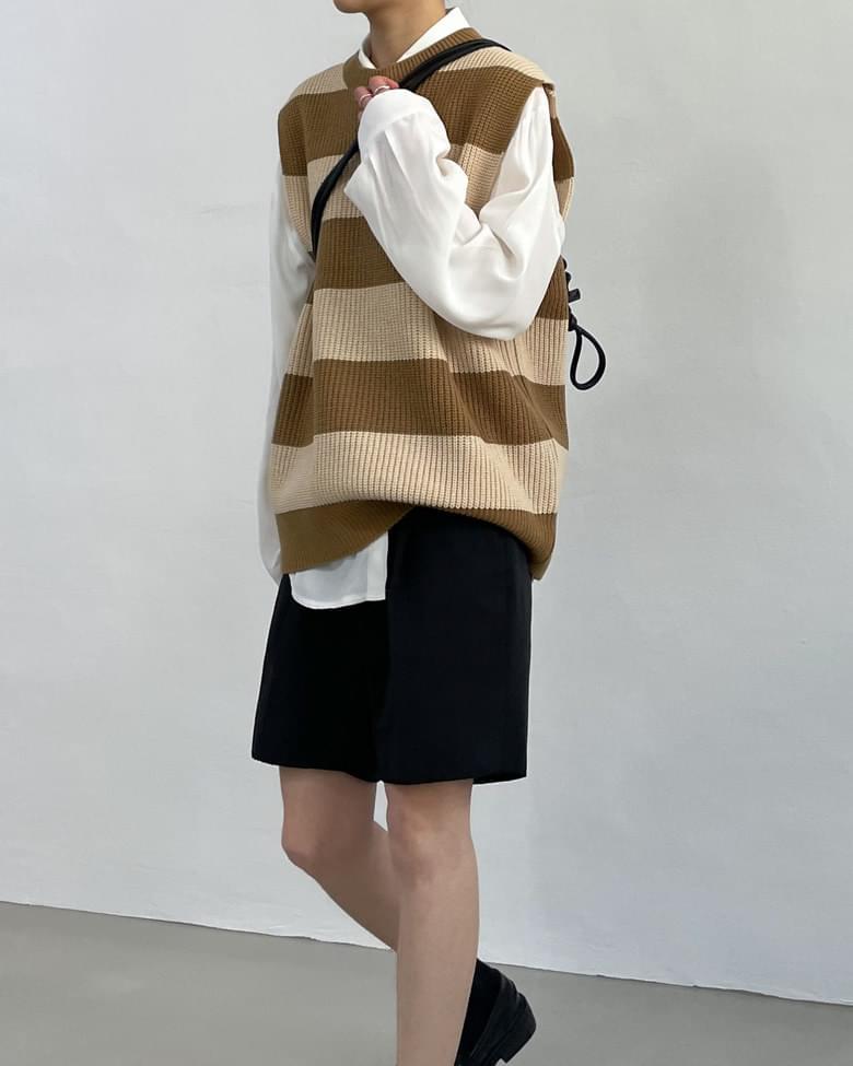 Foren Color Knitwear Vest Vest