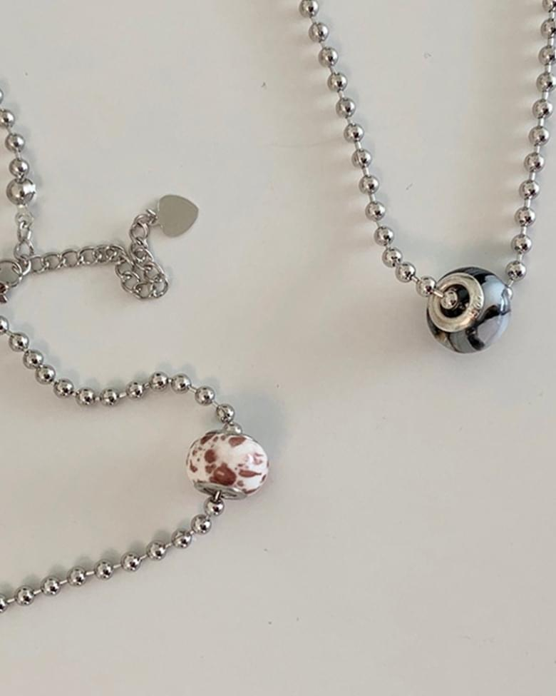 Zenya ball layered necklace
