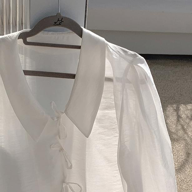 Pani ribbon color blouse 襯衫