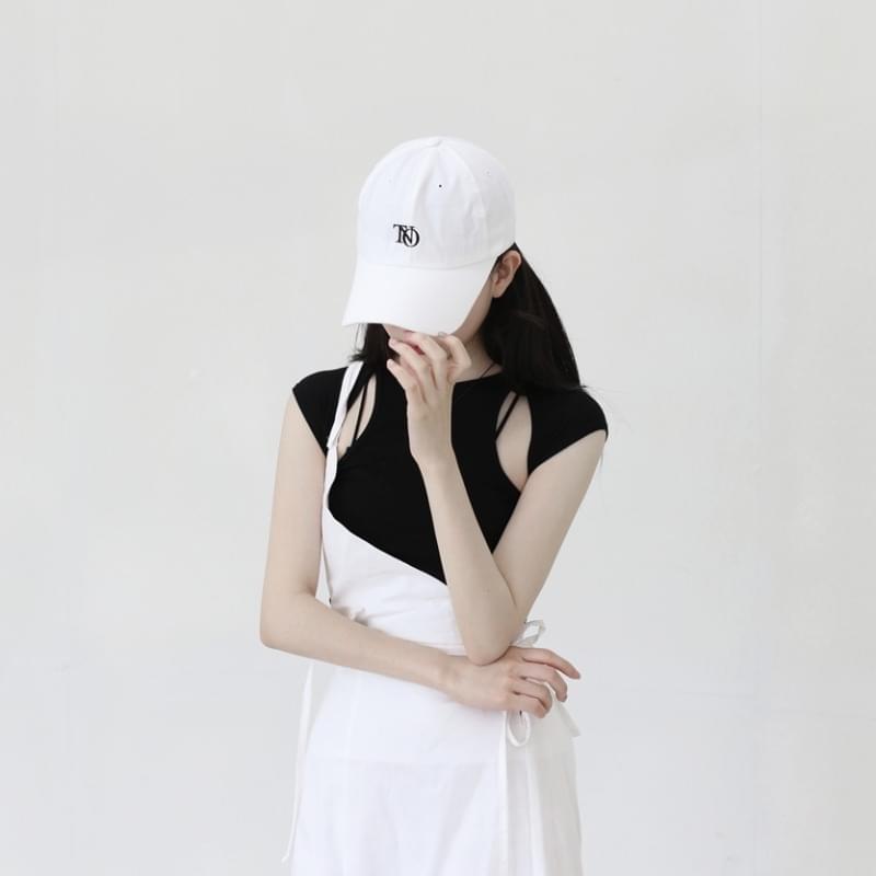 Wavy cotton ball cap 帽子