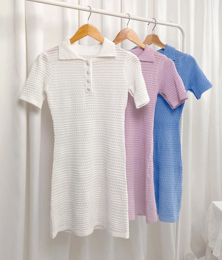 Slim Fit Sheer Knit Dress