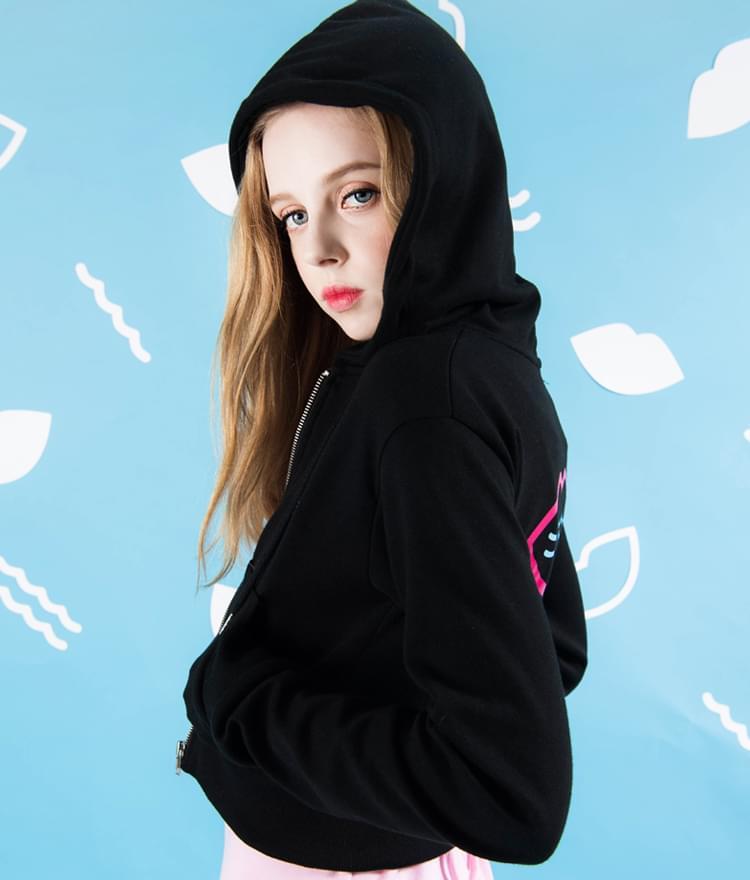 SEANLIPBack Logo Zip-Up Hoodie
