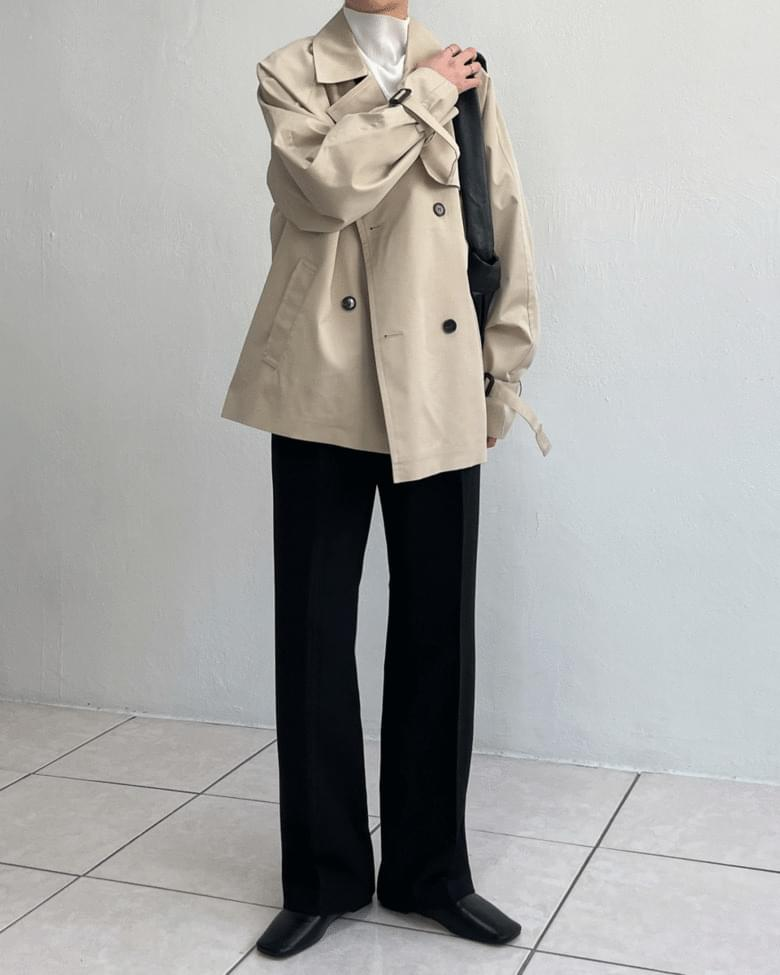 Bain half Loose-fit trench coat