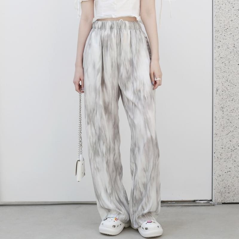 Shea banding wide trousers 長褲