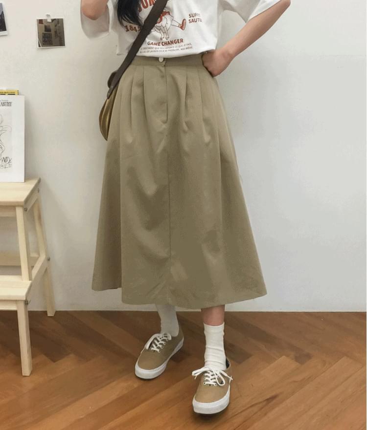 A-Line Midaxi Skirt