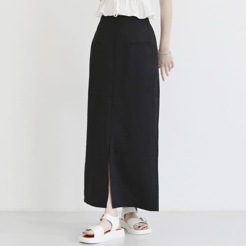 Lovely slit long skirt