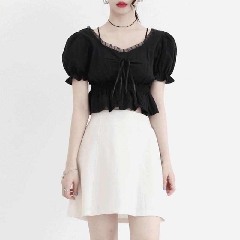 Chemi lace half blouse