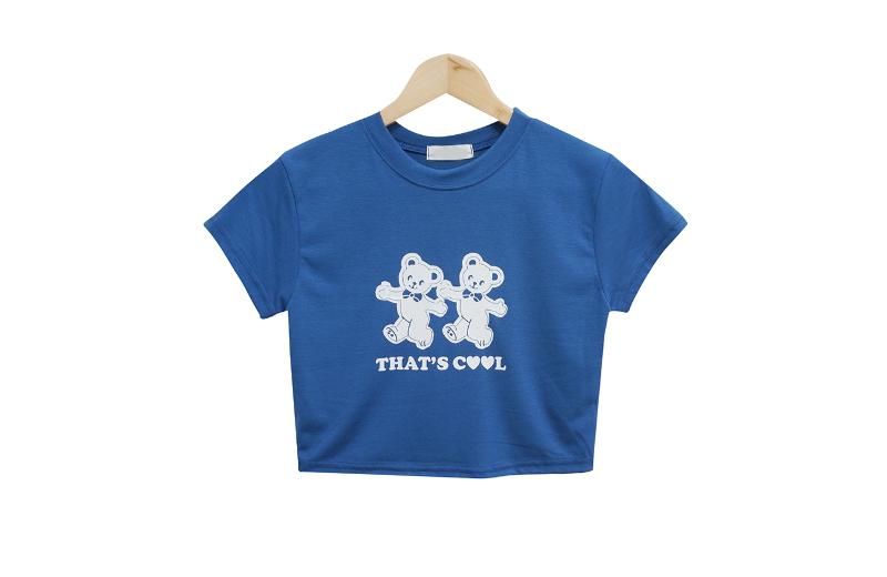 Cutie Bear Crop Short Sleeve Tee