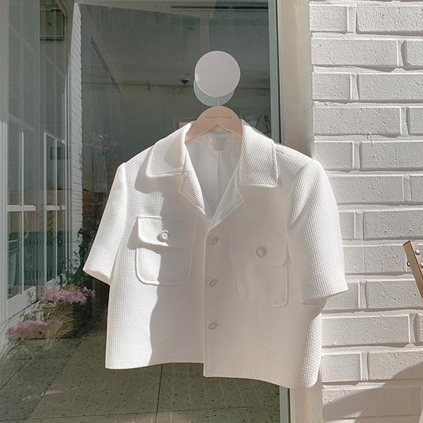 Welcome short sleeve tweed jacket (Delayed delivery)