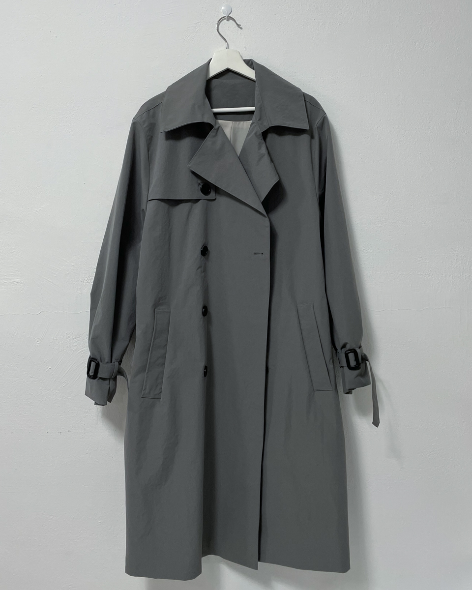 Kinness overfit trench coat