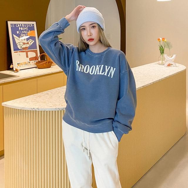 Bur Fleece-lined Split Sweatshirt