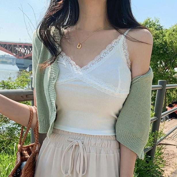 Summer wave crop cardigan (Delayed delivery)