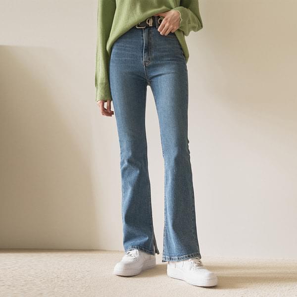 Slim split Flared trousers