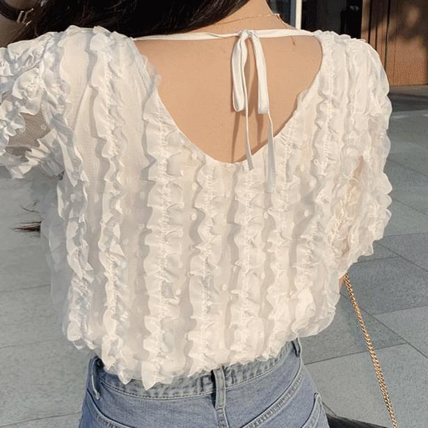 Sofran square lace blouse