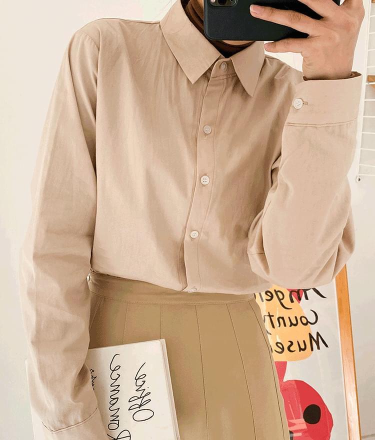 ESSAYSolid Tone Cotton Shirt