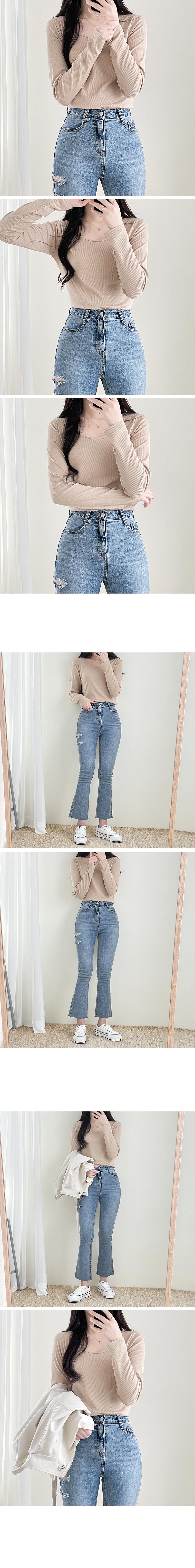 Teuim cut denim Flared pants
