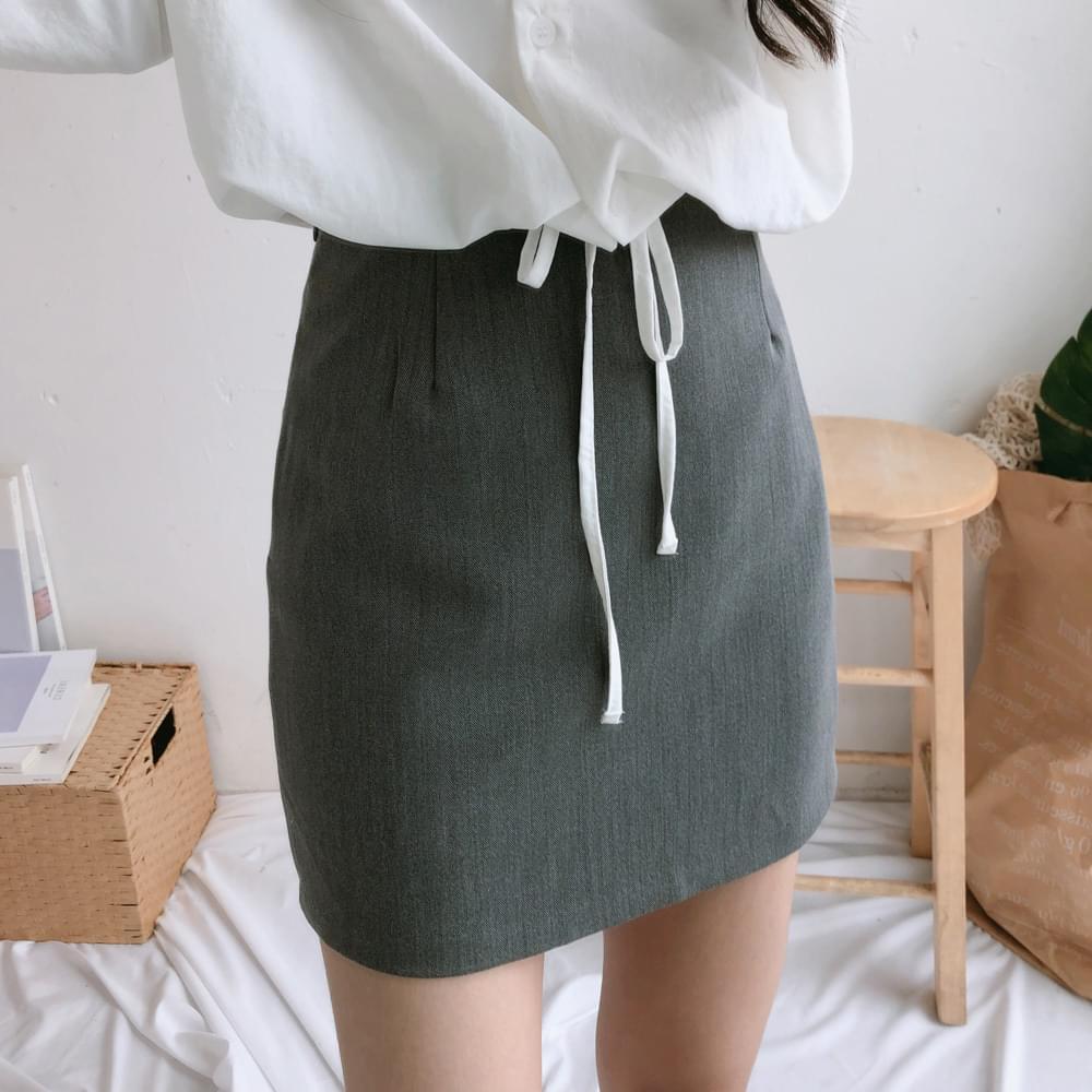 Paul monotone H line mini skirt