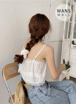 ns4237 Nuts Lace Crop Sleeveless