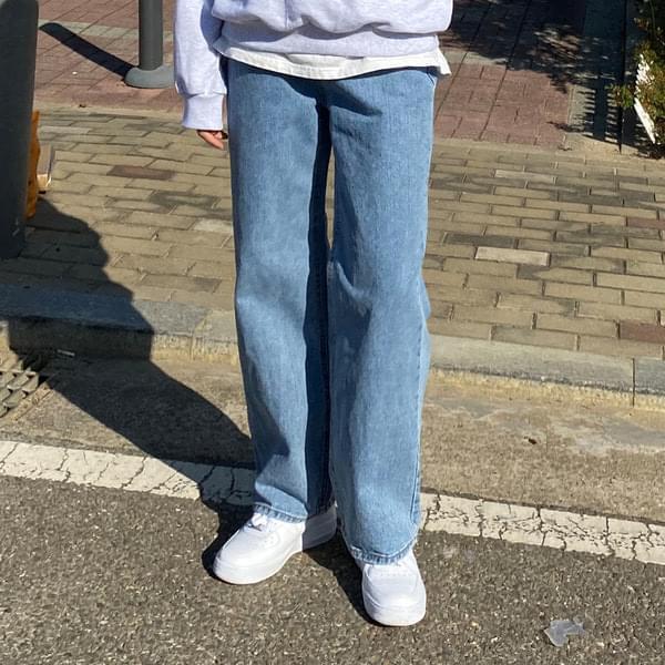 Ara straight denim trousers