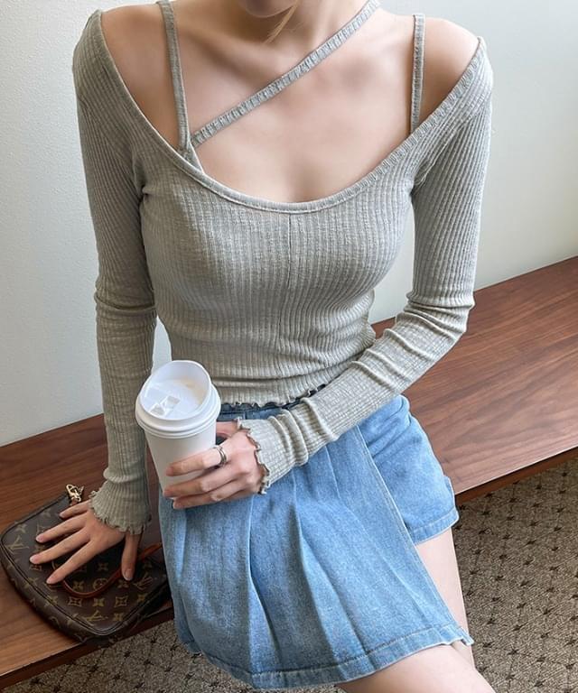 Riley Ribbed Sleeveless T-Shirt