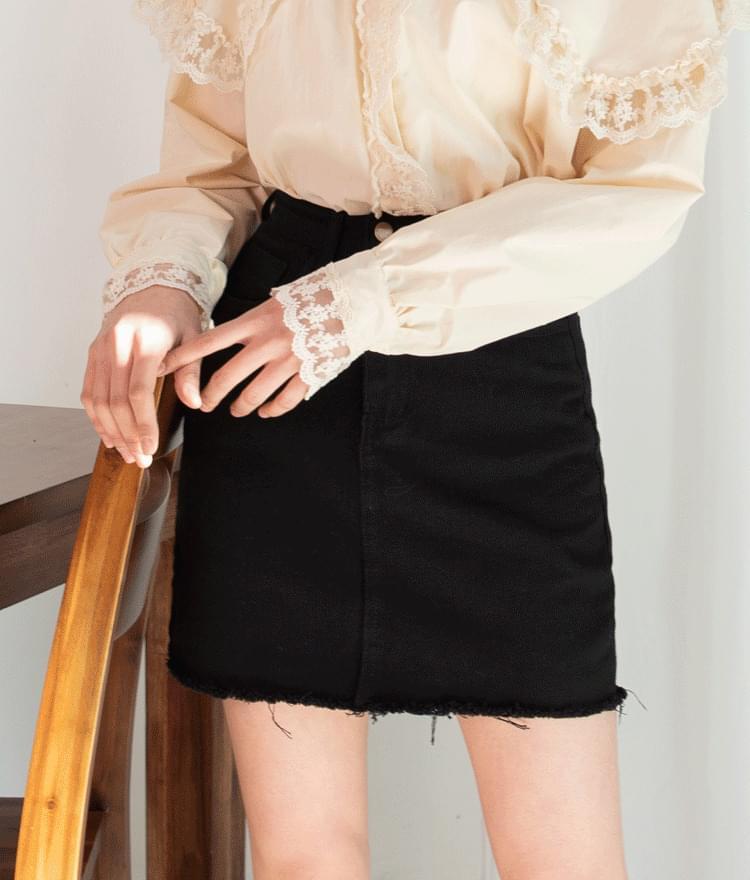 ESSAYFringe Hem Mini Skirt