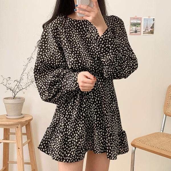Heart leopard mini Dress