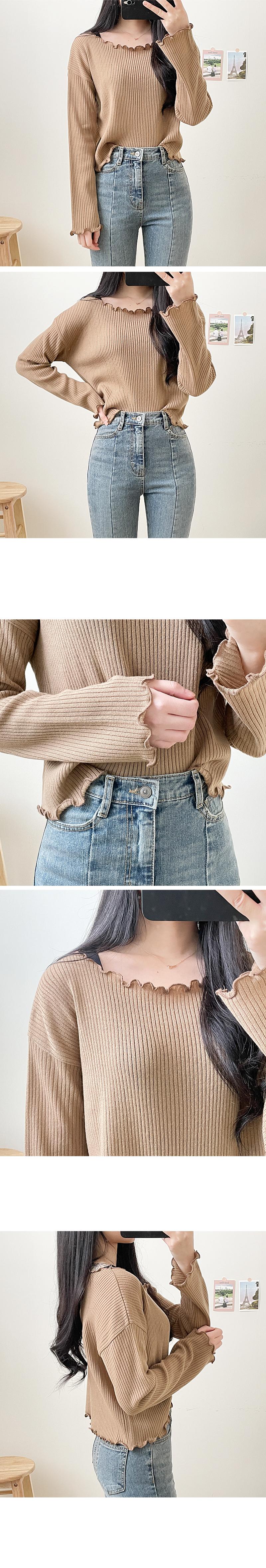 Rib Frill Ribbed Knitwear