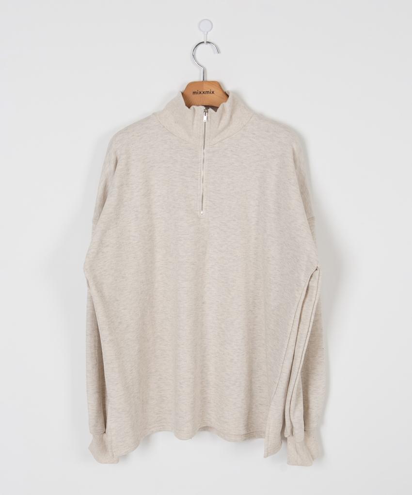 ESSAYQuarter Zip Loose T-Shirt