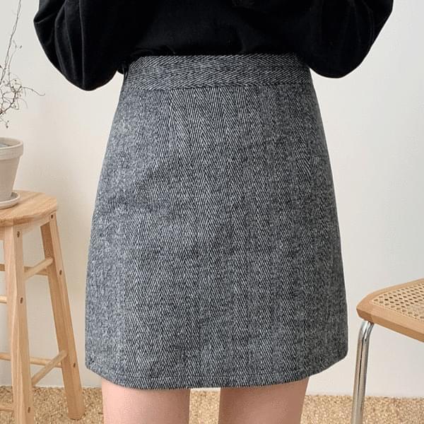 Hound herringbone skirt