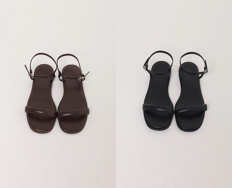 Churros Flat Leather Sandals