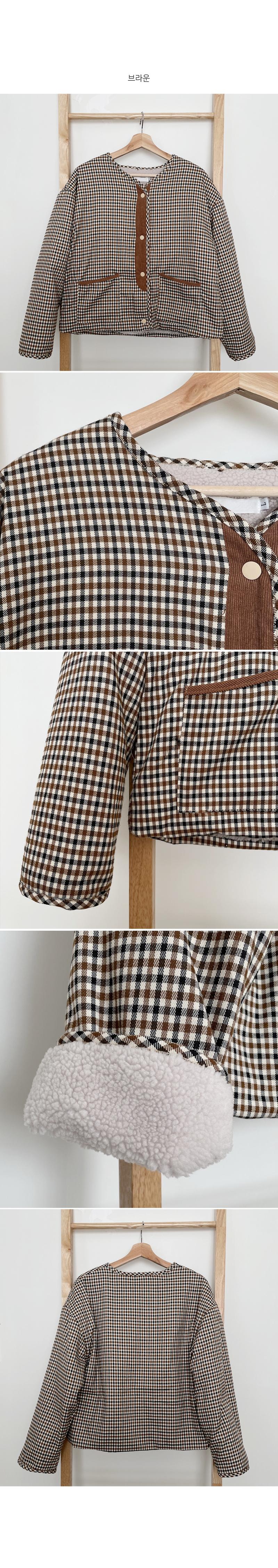 Reversible check & fleece jacket