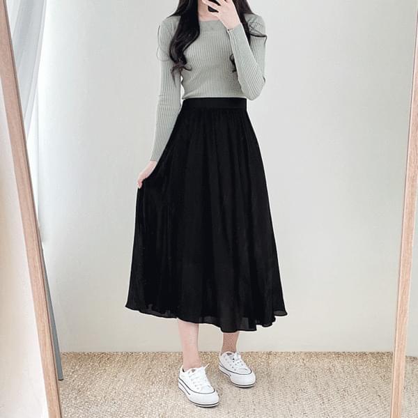 Sky Sky Flare Long Skirt