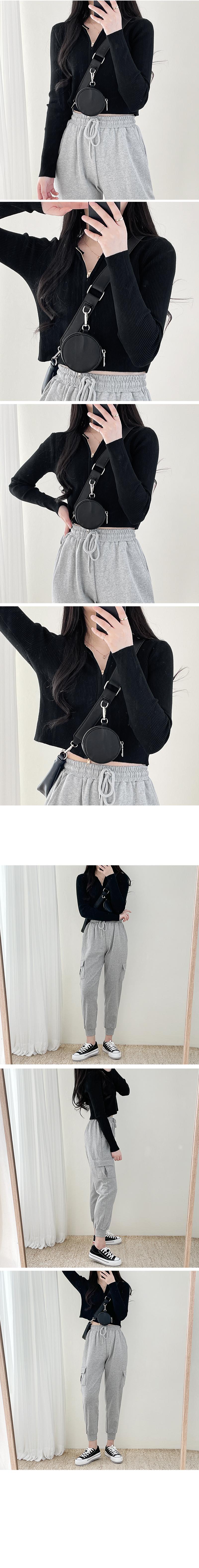Two-Way Zipper Knitwear Hooded Zip-Up