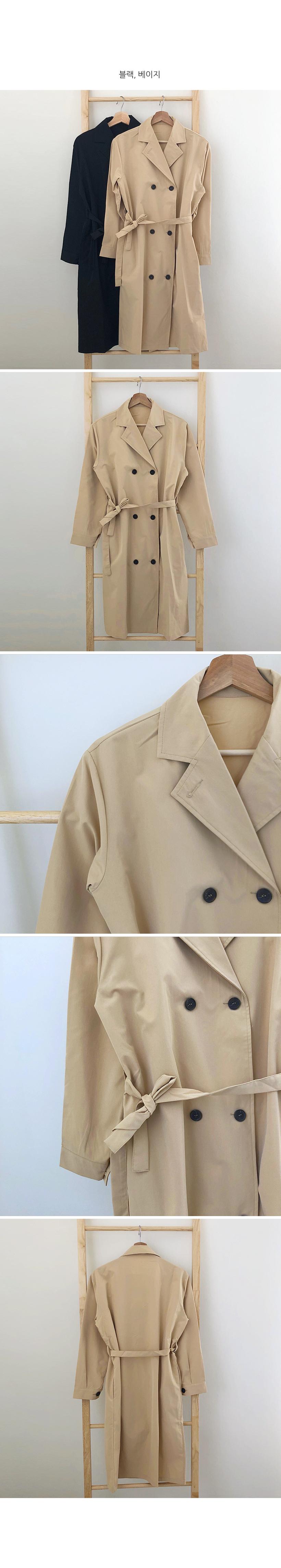 Minimalist trench coat 2color