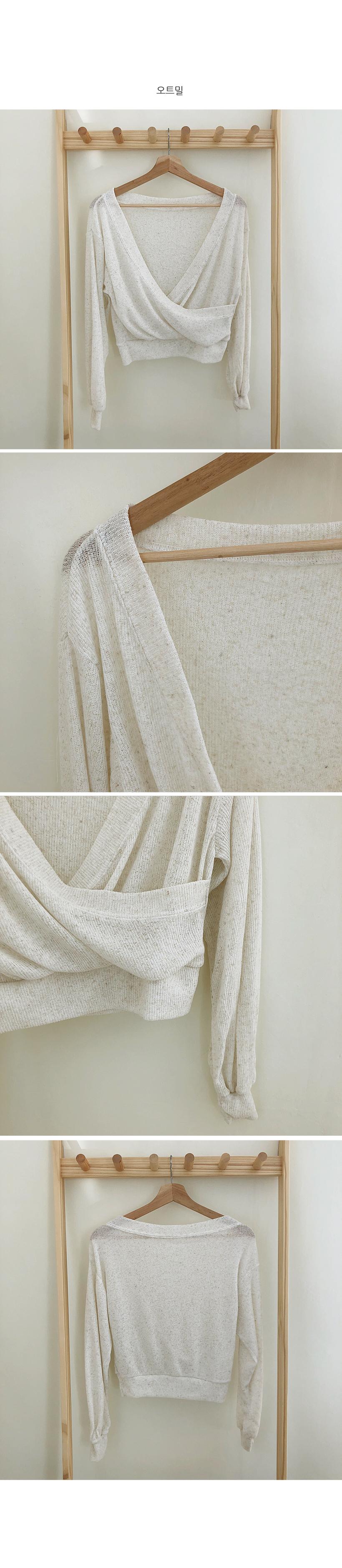 Layered Wrap Crop Knitwear